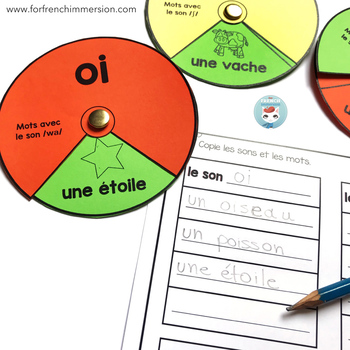 French Phonics Wheels | La conscience phonologique | Les sons français