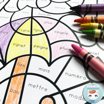 French Phonics Worksheets Color by Sound BUNDLE | Conscience phonologique