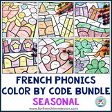 French Phonics Worksheets Color by Sound BUNDLE | Conscience phonologique