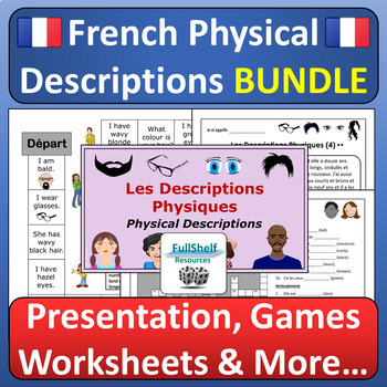French Physical Appearance / Personality Descriptions BIG BUNDLE