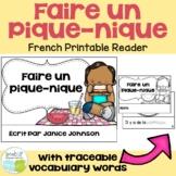French Picnic Reader {Faire un pique-nique} & Cut & Paste ~ Simplified