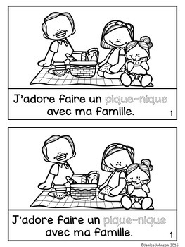 French Picnic Reader {Faire un pique-nique} & Cut & Paste ~ Simplified