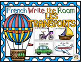 French Transportation Write the Room-Les Transports
