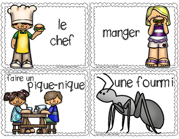 French Picnic Write the Room