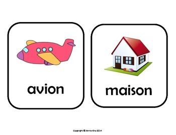 French Picture Cards and Worksheets