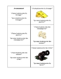 French Pizza Vocabulary Game: J'ai...Qui a?