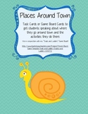 Places Around Town Speaking Activity (French) - Game Cards / Task Cards