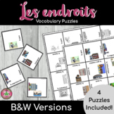 French Places Vocabulary Puzzles | Les endroits