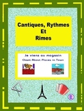 French Places in Town Words - French Rap-like Chant with Exercises and Mp3