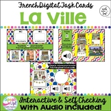 French Places in the City La VILLE Vocabulary Digital BOOM™ Task Cards w Audio