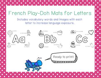 French Play-Doh Mats en Français