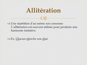 French Poetry Terms Notes