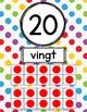 French Polka-Dot Number Posters - Affiches des nombres