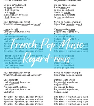 French Pop Music Listening Activity (Regarde nous)