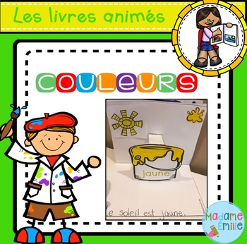French Pop Up Colors Book Livre Anime Des Couleurs