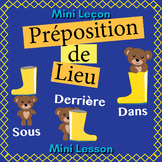 French Positional Words Booklet