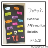 French Positive Affirmation Growth Mindset Bulletin Board