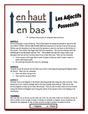 French Possessive Adjectives Activities (Speak, Read, Listen, Write)