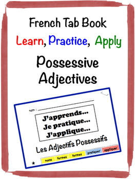 French Possessive Adjectives Tab Book