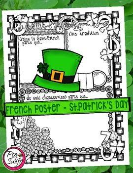 FREEBIE ♣ La Saint-Patrick French Poster