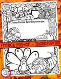 French Poster • l'Action de Grâce