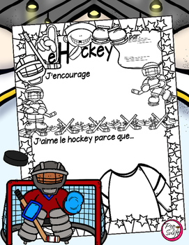 French Poster ~ Le hockey