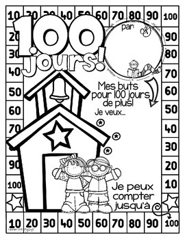 French Poster - 100 jours d'école