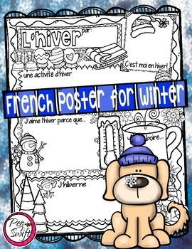 French Poster for Winter ~ L'hiver