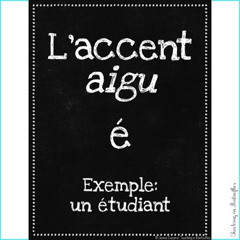 French Posters: Accent & Punctuation Marks FREEBIE - High Res Classroom Decor