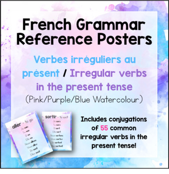 French Posters - Irregular Present Tense Verbs/Verbes Irréguliers au Présent