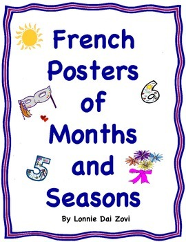French Posters or Cards of the Months and the Four Seasons