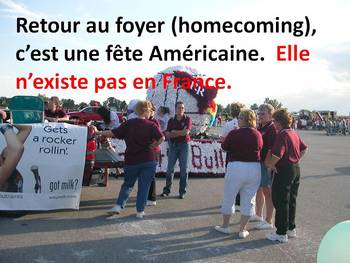 French Power Point Kindergarten Book: Homecoming