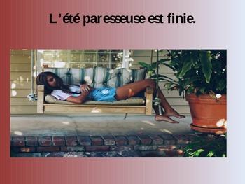 French Power Point Kindergarten Book - La Rentree