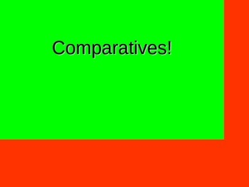 French Teaching Resources: PowerPoint: The Comparative.
