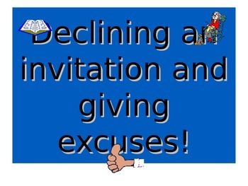 French Teaching Resources. PowerPoint: Giving Excuses with
