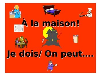 French Teaching Resources. PowerPoint: Household Chores wi