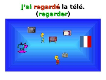 French Teaching Resources. PowerPoint: The Perfect Tense: regular -er verbs