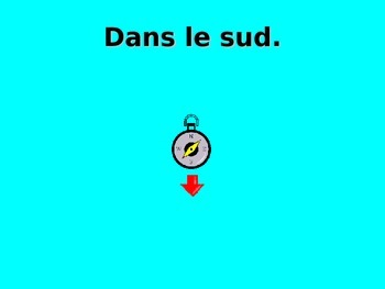 French Teaching Resources PowerPoint: Points of the Compass.