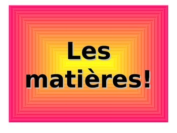 French Teaching Resources. PowerPoint Presentation: School Subjects