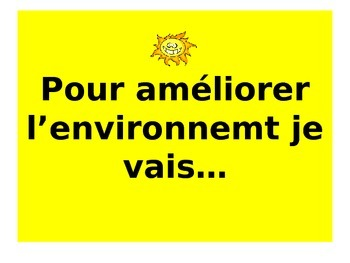 French Teaching Resources. PowerPoint: Saving the Environment.