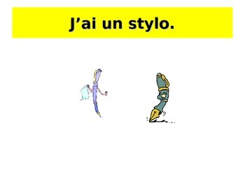 French Teaching Resources. PowerPoint: School Bag Items