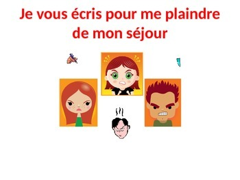 French Teaching Resources PowerPoint: Complaining about a camping holiday.