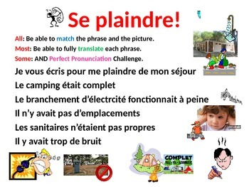 French Teaching Resources PowerPoint: Complaining about a