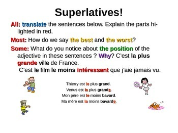 French Teaching Resources: PowerPoint: The Superlative!