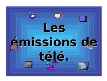 French Teaching Resources PowerPoint: TV Programmes. Les émissions de télé.