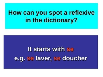 French Teaching Resources. PowerPoint: The Perfect Tense with Reflexives.