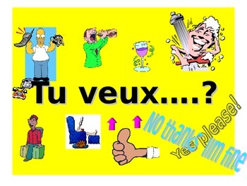 French Teaching Resources. PowerPoint: Tu veux + activity?