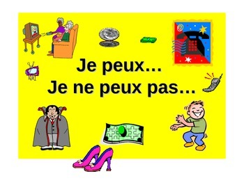 French Teaching Resources. PowerPoint: What you are allowed to do: Je peux
