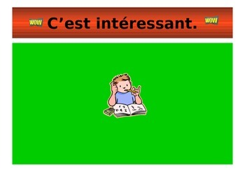 French Teaching Resources. PowerPoint: Opinions (adjectives).