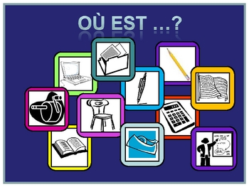 French Powerpoint  Interactive School Vocabulary Activity